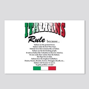 Italians Rules Postcards (Package of 8)