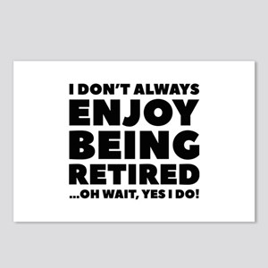 Enjoy Being Retired Postcards (Package of 8)