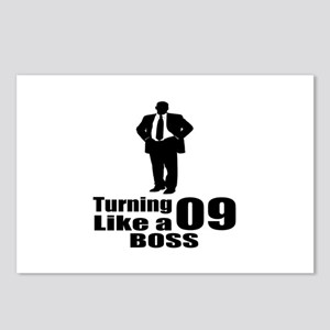 Turning 09 Like A Boss Bi Postcards (Package of 8)
