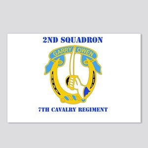DUI - 2nd Sqdrn - 7th Cavalry Regt with Text Postc