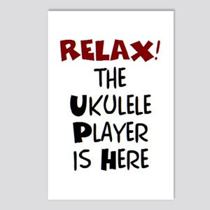 ukulele player here Postcards (Package of 8)