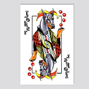 Blk Doberman Joker Postcards (Package of 8)