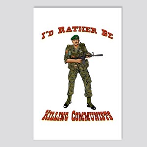 Rather Be Killing Commies Postcards (package Of 8)