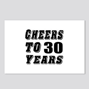 Cheers To 30 Postcards (Package of 8)