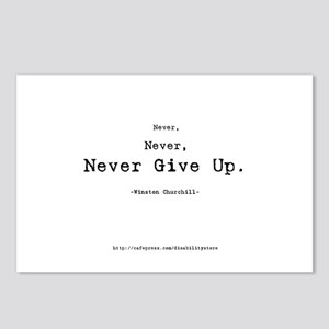 """Never Give Up"" Postcards (Package of 8)"