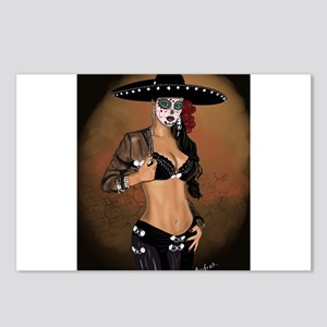 Mariachi Pin-up Art Postcards (Package of 8)