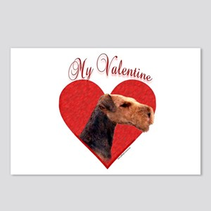 Airedale Valentine Postcards (Package of 8)