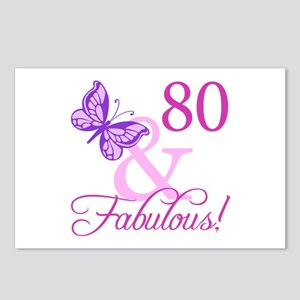 80 & Fabulous (Plumb) Postcards (Package of 8)