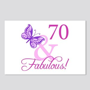 70 & Fabulous (Plumb) Postcards (Package of 8)