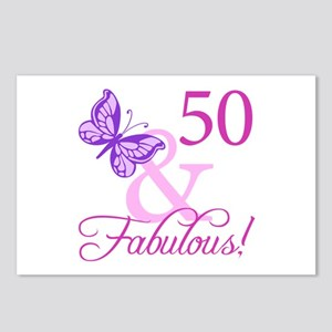 50 & Fabulous (Plumb) Postcards (Package of 8)