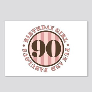 Fun & Fabulous 90th Birthday Postcards (Package of