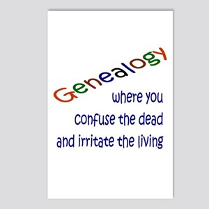 Genealogy Confusion (blue) Postcards (Package of 8