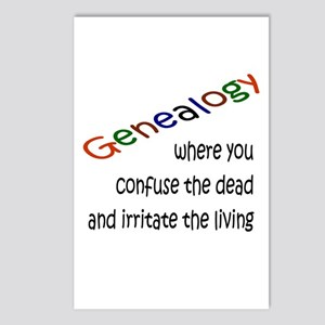 Genealogy Confusion (blk) Postcards (Package of 8)
