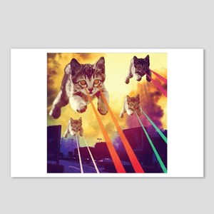 Laser Eyes Space Cats Fly Postcards (Package of 8)