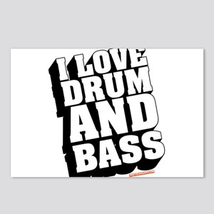 I Love Drum And Bass Postcards (Package of 8)