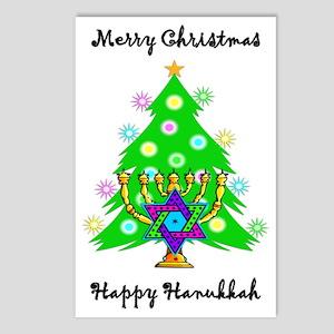 Christmas Hannakah.Hanukkah Postcards Cafepress