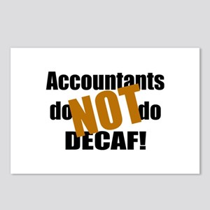 Accountant NOT Decaf! Postcards (Package of 8)