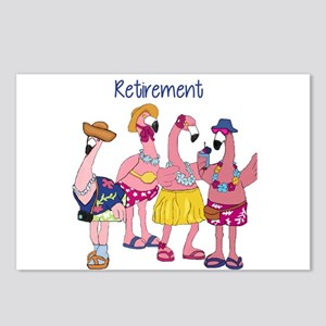 Retired Flamingos Postcards (Package of 8)