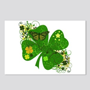 Fancy Irish 4 leaf Clover Postcards (Package of 8)