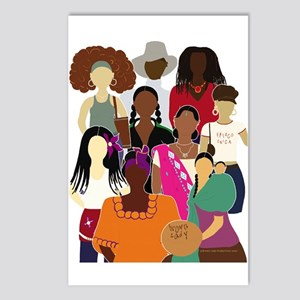 Brown Lady Collage Postcards (Pkg of 8)