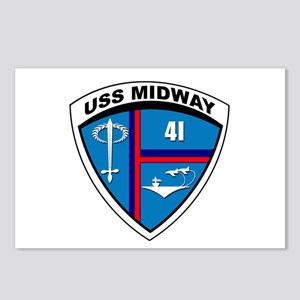 USS MIDWAY CV-41 - Postcards (Pack Of 8)