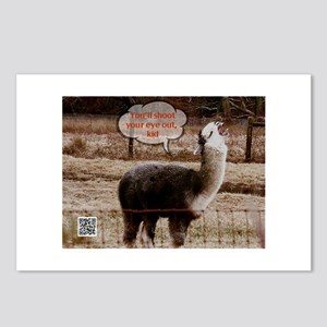Red Ryder Drama Llama Postcards (Package of 8)