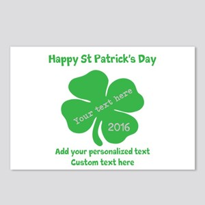 St Patricks Day Personalized Postcards (Package of