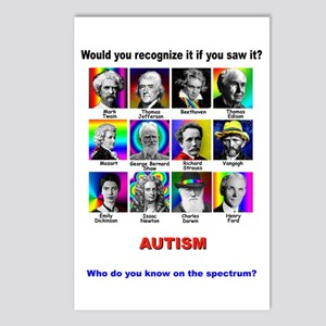 famous autism Postcards (Package of 8)