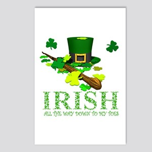 IRISH DOWN TO MY TOES Postcards (Package of 8)
