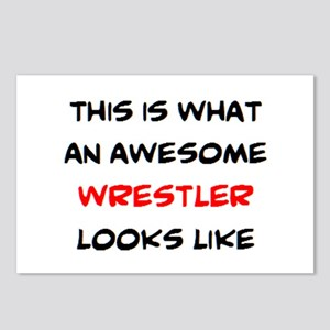 awesome wrestler Postcards (Package of 8)