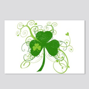 St Paddys Day Fancy Shamr Postcards (Package of 8)