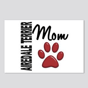 Airedale Terrier Mom 2 Postcards (Package of 8)
