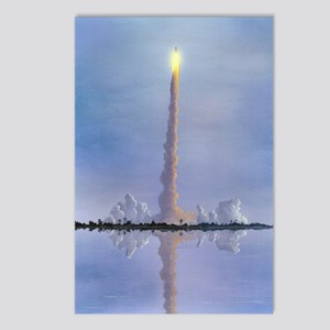 Space Shuttle launch, art Postcards (Package of 8)