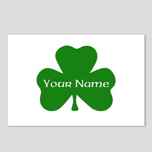 CUSTOM Shamrock with Your Name Postcards (Package