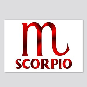 Red Scorpio Symbol Postcards (Package of 8)