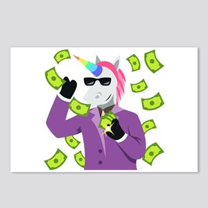 Emoji Unicorn Like A Boss Postcards (Package of 8)