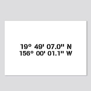 Latitude Longitude Personalized Custom Postcards (