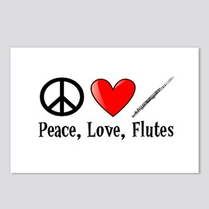 Peace, Love, Flutes Postcards (Package of 8)