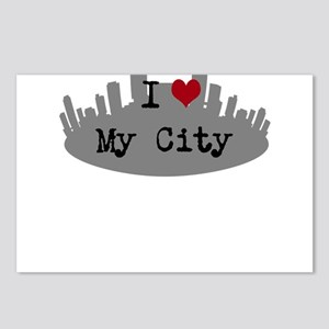 Customizable I Heart City Postcards (Package of 8)