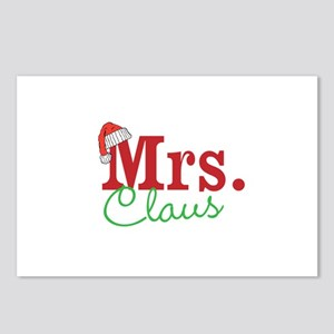 Christmas Mrs personalizable Postcards (Package of
