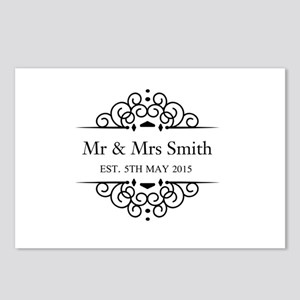 Custom Couples Name and wedding date Postcards (Pa