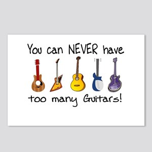 Too many guitars Postcards (Package of 8)