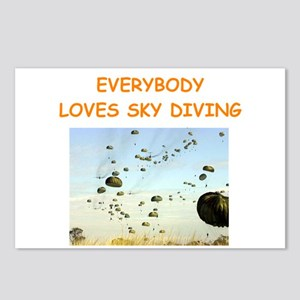 sky diving Postcards (Package of 8)