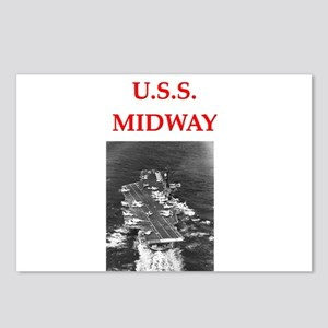 u.s.s.midway Postcards (Package of 8)