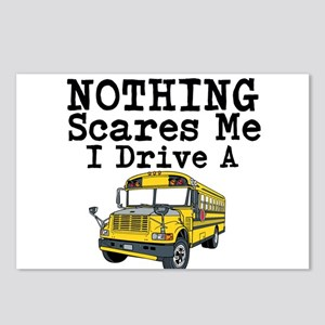 Nothing Scares Me I Drive a School Bus Postcards (