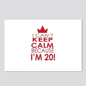 I cant keep calm because Im 20 Postcards (Package