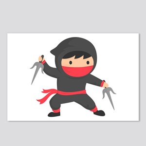 Cute Ninja with Sai for Kids Postcards (Package of