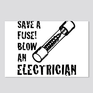 save a fuse blow an elect Postcards (Package of 8)