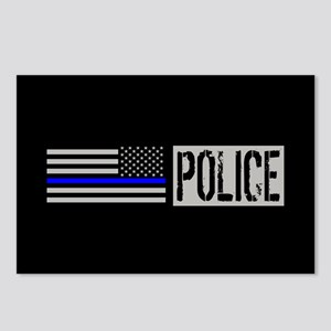 Police: Police (Black Fla Postcards (Package of 8)