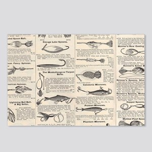 Fishing Lures Vintage Ant Postcards (Package of 8)